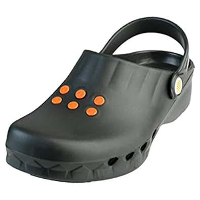 Wock Black Flat Sandal For Women