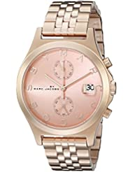 Marc by Marc Jacobs Womens MBM3384 Rose Gold-Tone Stainless Steel Bracelet Watch