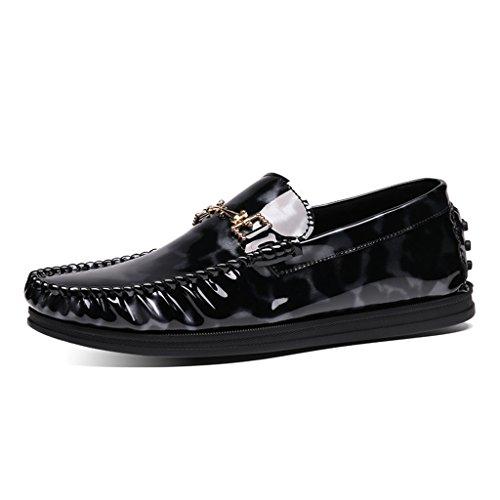 Zapatos Piel Zapatos Tamaño Cuero Hombres B Casual Peas Color Driving UK7 de Clásicos B Shoes Lounger Bright Shoes 5 Hombre para para Spring de EU42 XErERw