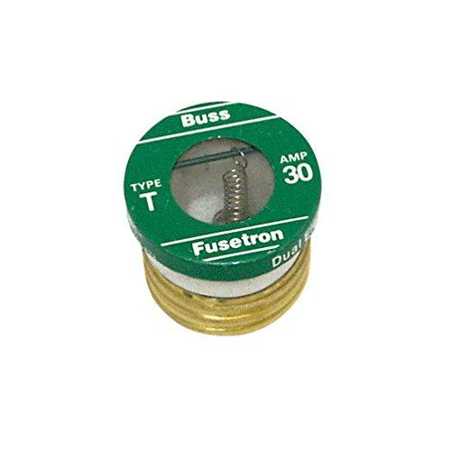 Bussmann Plug Fuse Dual Element 30 Amp 125 V Brass Industrial Strength Box / 4 ()