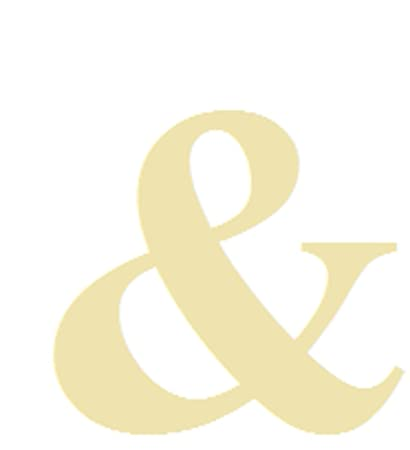 Amazon.com: Ampersand Style 1 And Sign/ Symbol Unfinished MDF Wood ...