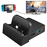 UKor Switch TV Dock, Portable Charging Stand for Nintendo Switch,Compact Switch to HDMI Adapter,Mini Switch Docking Station with Extra USB 3.0 Port, Replacement Charging Dock for Nintendo Switch: more info