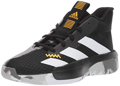 adidas Unisex Pro Next Basketball Shoe, Black/white/active Gold, 4.5 M US Big Kid (Top Best Basketball Shoes)