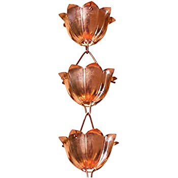 8-1//2 Feet Length Monarch Pure Copper Haru Extra Large Rain Chain