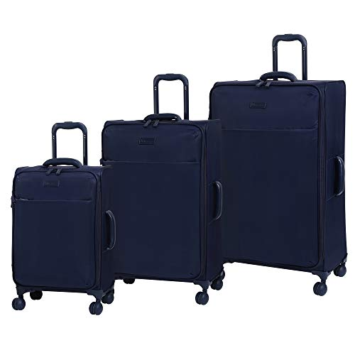 it luggage Lustrous Lightweight Expandable Spinner Wheels, Blue, 3-Piece Set (22/28/32)