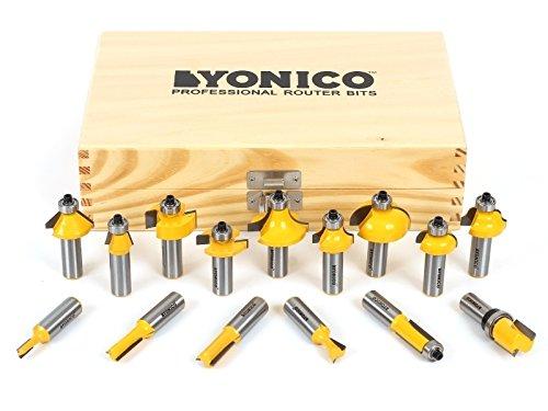 Profile Bit Set - Yonico 17150 Yonico 17150 15 Bit Multi- Profile Router Bit Set 1/2