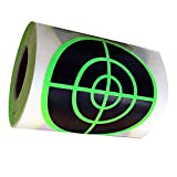 Besttile Splatter Target | 3.2 Inch Florescent Green Shooting Target Self-Adhesive Stickers(250 PCS Per Roll)