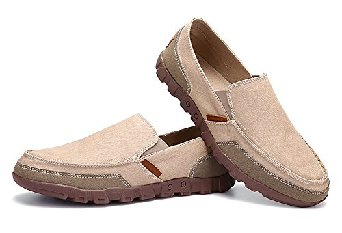 Canvas Driving On Loafers Shoes Penny Casual Classic Comfort Beige Shoes Slip Odema Mens wqgAn