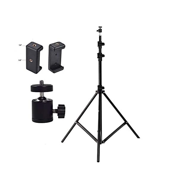RetinaPix HIFFIN Combo Light Weight Flexible Gorilla Tripod with 9 Ft Light Stand