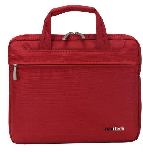 Navitech Rote Wasserwiederständige Premium Schocksichere 13,1 Zoll Laptop / Notebook Trage Tasche für das Toshiba Satellite L755D-S5363, Toshiba Satellite L755-S5349 , Toshiba Satellite C655D-S5336, T