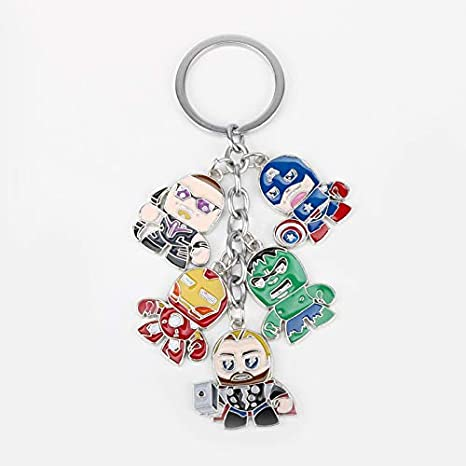 Amazon.com: The Avengers Keychain Marvel Superhero Character ...