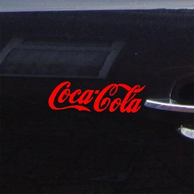 WINDOW DECORATION RED WALL DECOR LAPTOP MACBOOK CAR COCA COLA CAR STICKER DECAL VINYL BIKE HOME DECOR ADHESIVE VINYL AUTO DIE CUT WALL ART