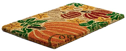 Entryways Pumpkin Patch, Hand-Stenciled, All-Natural Coconut Fiber Coir Doormat 18'' X 30'' x .75'' by Entryways (Image #1)
