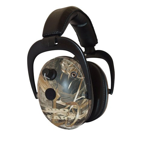 Pro Ears - Predator  Gold - Hearing Protection and Amplfication - NRR 26 - Contoured Ear Muffs -  Max 5 Camo by Pro Ears