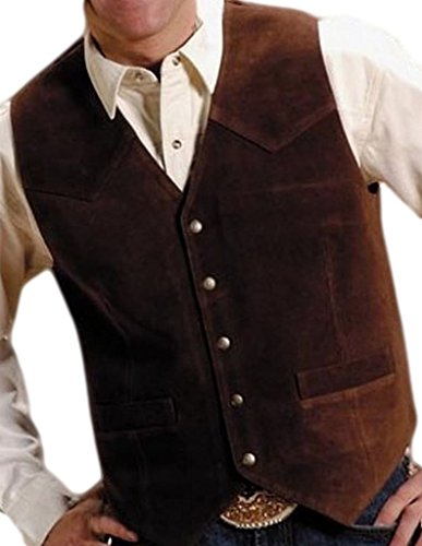 Roper Men's Suede Vest Big And Tall Brown X-Large (Brown Suede Leather Vest)