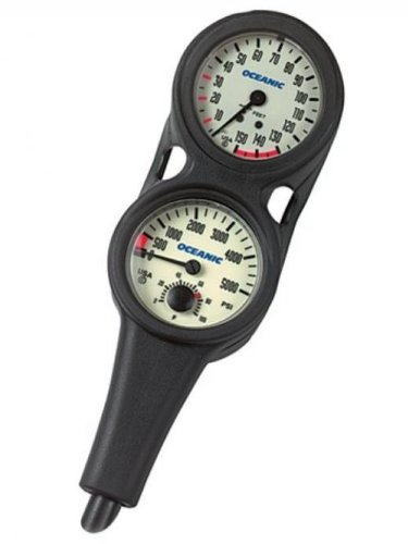 (Oceanic Oil Filled Pressure & Depth Combo Scuba Gauge )