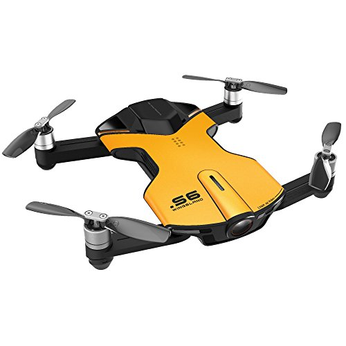 Wingsland S6 Quadcopter Yellow Mini Pocket Drone 4K Camera (Outdoor Edition)