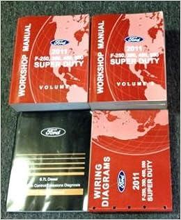 2011 ford truck f-250 f-350 f450 550 service shop repair manual set w pced  ewd: ford: amazon com: books