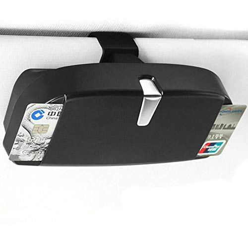 Argonv Car Eyeglasses Case Eyeglasses Clip Ticket Card Clamp Car Sun Visor Sunglasses Holder Accessories (black)