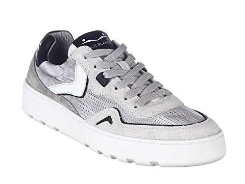 Voile Blanche Scarpe Sneaker Uomo Andy Mesh Velour-Mesh 9101 Bianco-Grigio Primavera Estate 2018