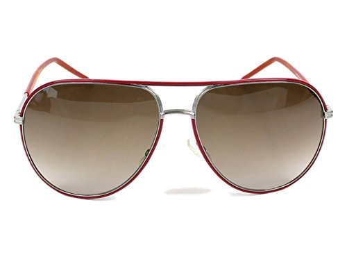 Christian Dior 0169/s Sunglasses Brushed Ruthenium / Red / Brown - Sunglasses Homme Dior Christian