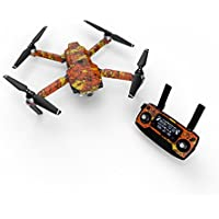 Digital Orange Camo Decal for drone DJI Mavic Pro Kit - Includes Drone Skin, Controller Skin and 3 Battery Skins