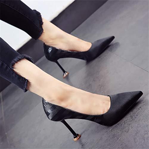 Sposa donna YMFIE da da scarpe stile elegante bassa donna Sposa nero lavoro in   6fd5dc