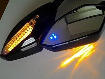 Amazon.com: HK MOTO- Blue Led Mirror For Yamaha Fzr Yzf Fz1 ...