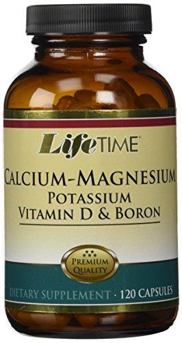 LifeTime Calcium-Magnesium Potassium Vitamin D and Boron - 120 Caps (Calcium Vitamin D Magnesium)