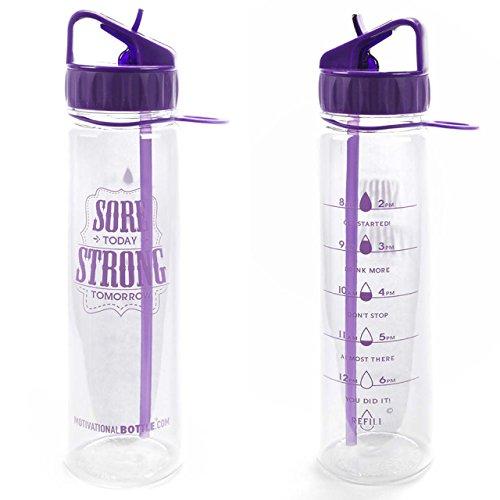 Purple Straw Motivational Bottle®