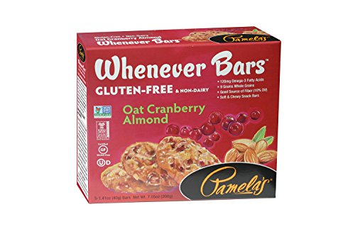 Pamela's Products Gluten Free Whenever Bars, Cranberry Almond, 5 Count Box, 7.05-Ounce (Pack of 6) - Bar Cranberry Almond