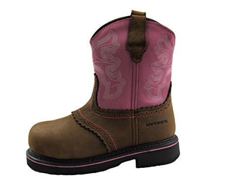 Wolverine Hytest Donna Western Wellington Steel Toe, Rischio Elettrico, Stivali Antinfortunistici Di Sicurezza Marrone / Rosa