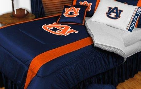Auburn Tigers NCAA Bedding - Sidelines Comforter and Sheet Set Combo - Queen (Queen Sideline Comforter)