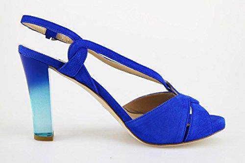 Seller Scamosciata The Sandali Pelle Blu Donna 0wfqRfxg