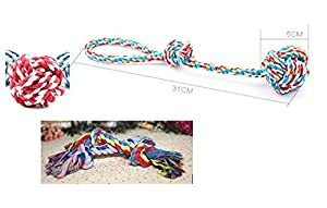hot sale Rope Toys By Goodog Toys 3 pc of Dog Rope Toys for Small Medium & Large Dogs , 30cm Rope, Cotton Ball, 17cm Rope.