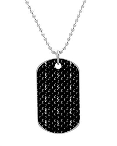 """Yen Dollar Pound Dog Tag Dimensions 1.3X2.2X0.1 inches ,Comes with 30"""" inches beads chain"""