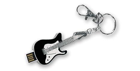 Llavero - USB 8 Gb diseño Guitarra Eléctrica con mosquetón. Dakota. 1 unidad