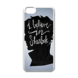 D-PAFD Print Sherlock Pattern PC Hard Case for iPhone 5C