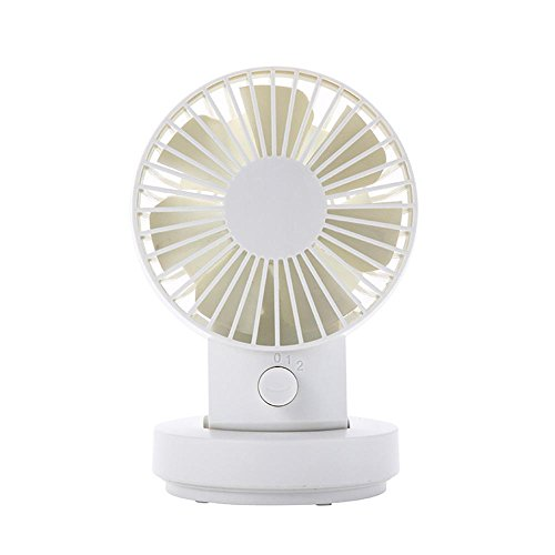 Mini USB Table Fan, niceEshop(TM) Dual Blades Oscillating 2 Adjustable Speed Modes Desk Fan Small Personal Fan for Home and Travel