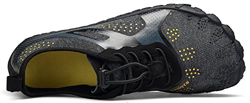 JOOMRA Unisex Barefoot Water Shoes Breathable Quick Dry Gym Athletics for Running Walking Fishing Camp Outdoor Minimus Training Beach Aqua Shoes Black 9.5 US Women's / 8 US Men's by JOOMRA (Image #2)