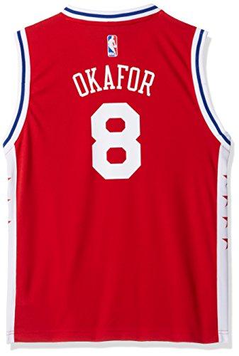 NBA Youth 8-20 Philadelphia 76ers Okafor Replica Alternate Jersey-Red-XL(18)