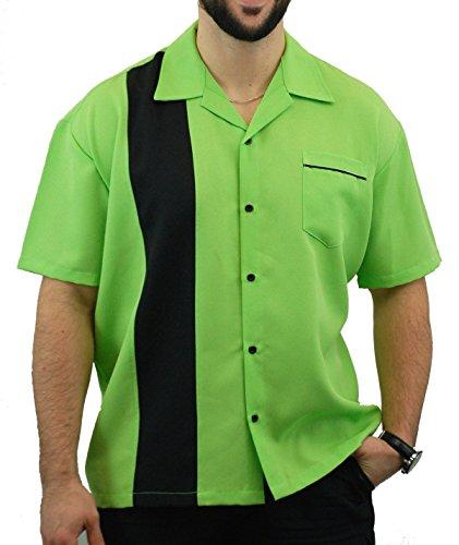 Bowling-USA-Made-Mens-Short-Sleeve-Lime-Green-Shirt-BeRetro-Nitro