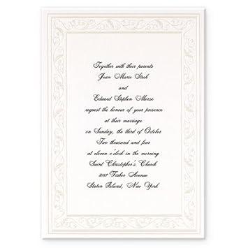 Amazon Com Silver Filigree Wedding Invitations Health Personal Care