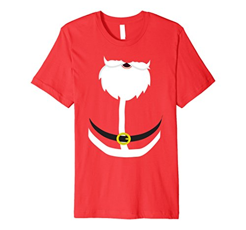 Inexpensive Last Minute Halloween Costumes (Mens Last Minute Santa Halloween Costume T-Shirt for Christmas Large Red)