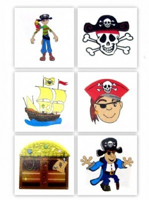 RINCO Temporary Pirate by Tattoo (144 Piece), 2 by Pirate RINCO e43d15