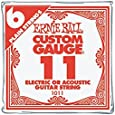 Ernie Ball Nickel Plain Single Guitar String .011 6-Pack