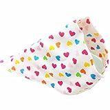 SUPPION Baby Cotton Bibs, Cute Triangle Scarf Towel Girls Feeding Smock Bibs Burp Cloths (I)
