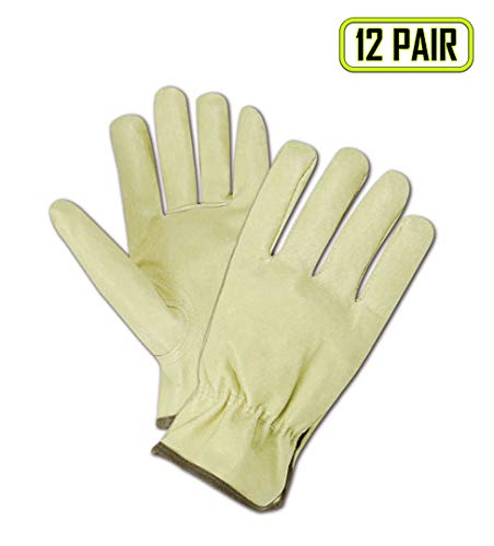 - Magid Glove & Safety B741E-XXXL Roadmaster B741E Select Pig Grain Leather Driver-Keystone Thumb, Pig Grain Leather, 3X-Large, Off White (Pack of 12)