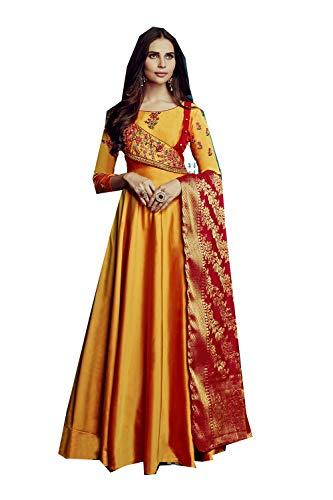men Designer Partywear Ethnic Diwali Traditonal Orange Readymade Dress. ()