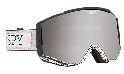Spy Optic Ace 310071772390 Snow Goggles, One Size (Spy + Maude Raymond Frame/Happy Silver Mirror + Happy Lucid Green Lens) (Spy Ski)